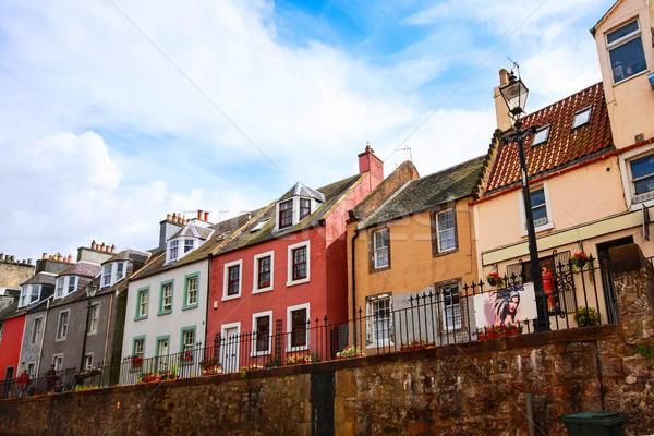 古い 住宅 エディンバラ スコットランド 壁 ピンク ストックフォト © Julietphotography