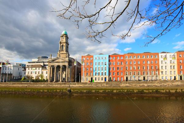 Dublin folyó Írország égbolt víz felhők Stock fotó © Julietphotography