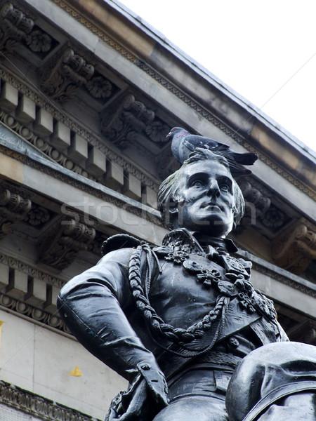 Statua Wellington Glasgow galleria moderno arte Foto d'archivio © Julietphotography