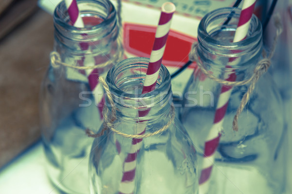 Traditional vintage glass bottles close up  Stock photo © Julietphotography