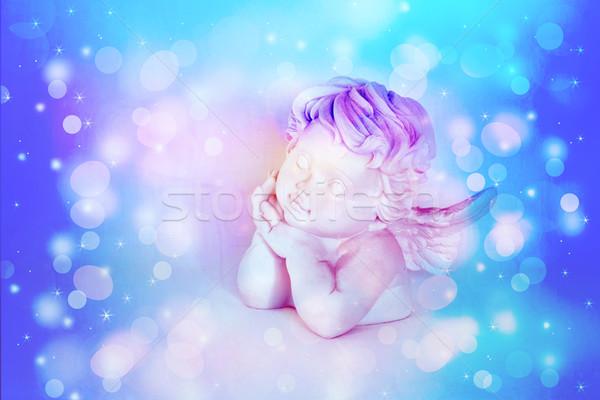 ángel blanco música mano nino belleza Foto stock © Julietphotography
