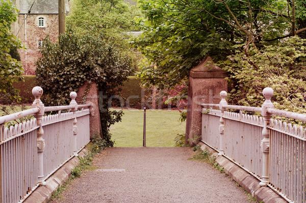 Belle vieux métal clôture pont école Photo stock © Julietphotography