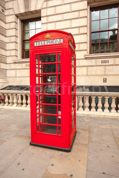 Traditional red telephone box in London UK Stock photo © Julietphotography