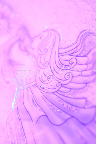 Christmas angel with trumpet soft background Stock photo © Julietphotography