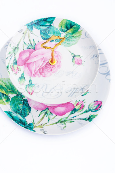 Vintage cake stand close up Stock photo © Julietphotography