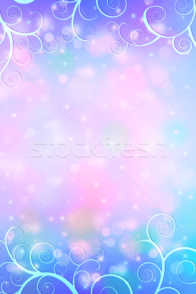 Beautiful dreamy background with bokeh lights and artistic frame  Stock photo © Julietphotography
