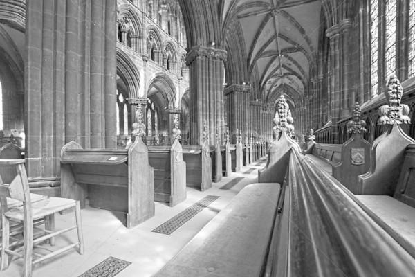 Glasgow cattedrale interni bianco nero costruzione costruzione Foto d'archivio © Julietphotography