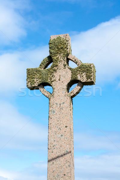 кельтской крест острове Шотландии Сток-фото © Julietphotography