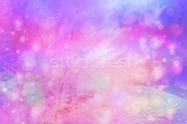 Dreamy beautiful floral background with bokeh lights Stock photo © Julietphotography