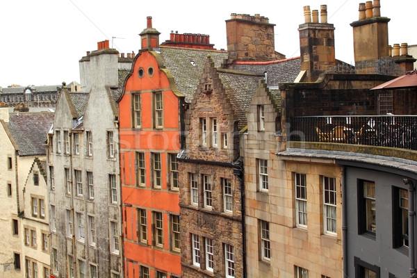 Edad arquitectura histórica Edimburgo Escocia ciudad calle Foto stock © Julietphotography