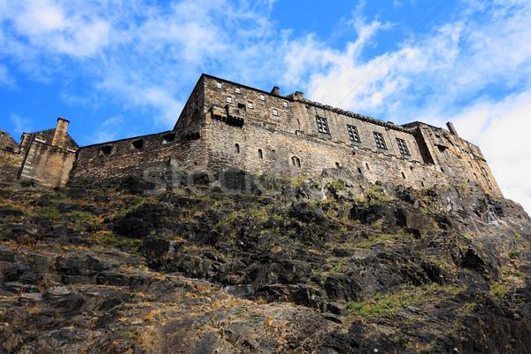 Edinburgh zamek Szkocji ogród lata niebieski Zdjęcia stock © Julietphotography
