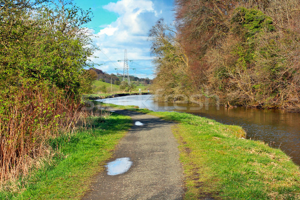 Forth and Clyde Canal in Springtime, Scotland Stock photo © Julietphotography