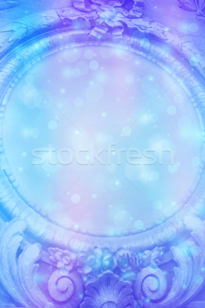 Beautiful dreamy background with bokeh lights and ancient artistic frame  Stock photo © Julietphotography