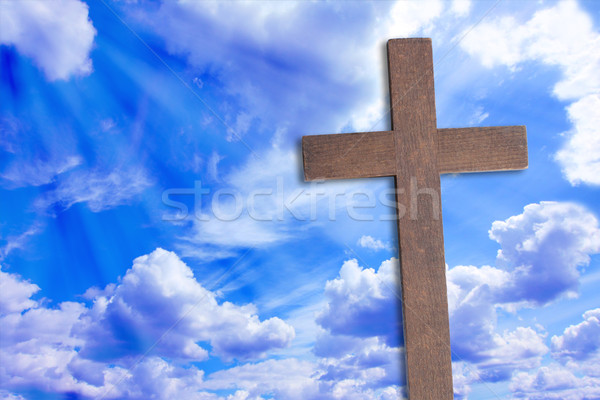 крест Иисус Христа красивой облака природы Сток-фото © Julietphotography