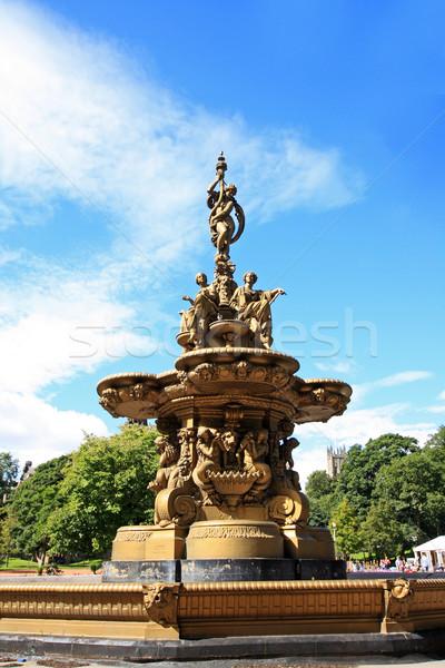 Zdjęcia stock: Fontanna · princess · ulicy · ogrody · Edinburgh · Szkocji