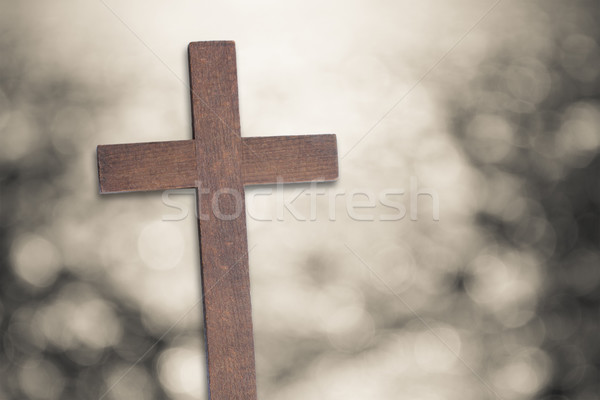 çapraz İsa Mesih bokeh Paskalya doğa Stok fotoğraf © Julietphotography