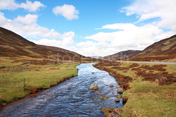 On the way to Scottish Highlands Stock photo © Julietphotography