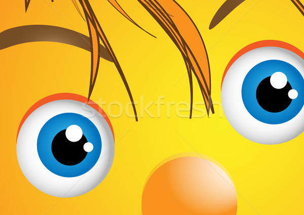 Funny face with big eyes Stock photo © Julietphotography
