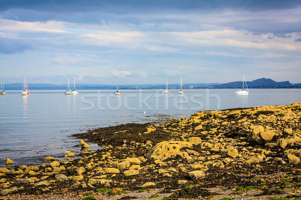 Black Sands beach, Aberdour, Scotland. Stock photo © Julietphotography