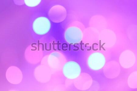Kolorowy christmas streszczenie bokeh światła śniegu Zdjęcia stock © Julietphotography