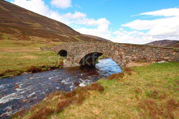 út Skót-Felföld tavasz tavasz nap tájkép Stock fotó © Julietphotography