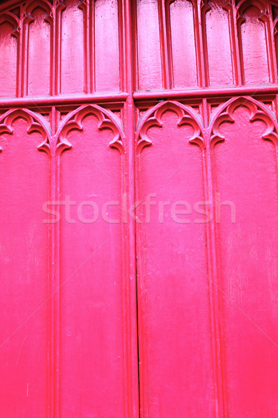 Wooden red church door close up background Stock photo © Julietphotography