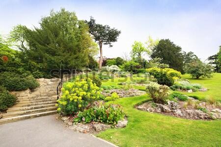 Stock photo: Beautiful landscaped summer garden