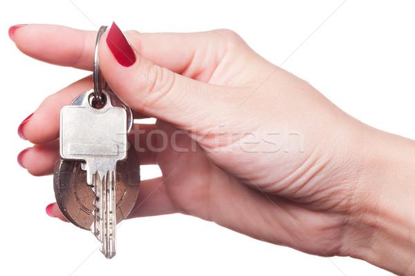 Dedos rizado alrededor las llaves del coche pintado Foto stock © juniart