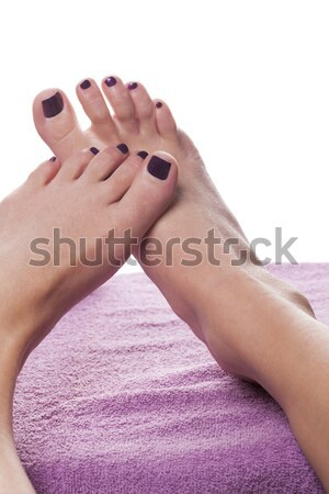 Woman having a pedicure treatment at a spa Stock photo © juniart