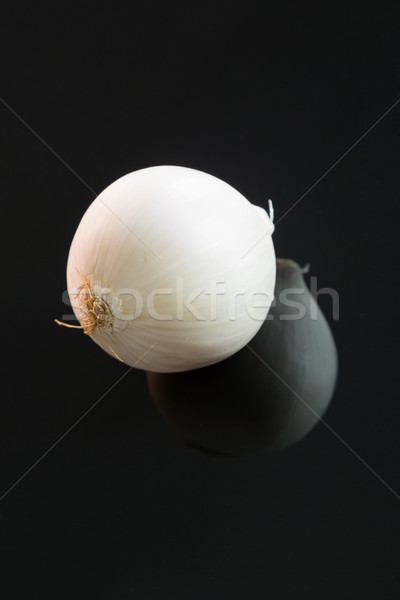 Three whole fresh raw white onions Stock photo © juniart