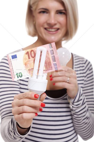 女性 電球 10 ユーロ ストックフォト © juniart