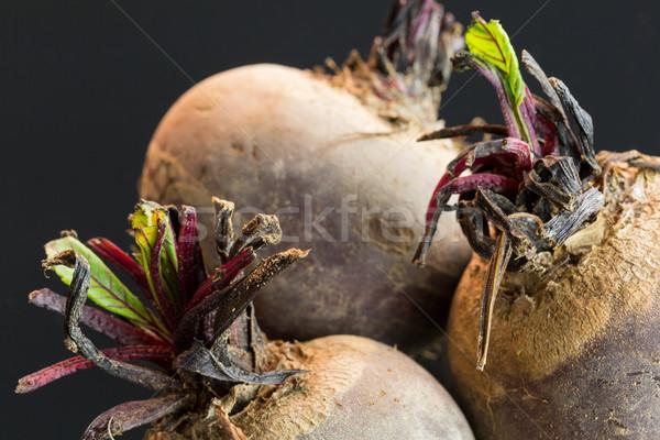 3  ファーム 新鮮な 生 ビートの根 全体 ストックフォト © juniart