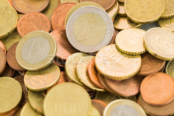 Heap of assorted Euro coins Stock photo © juniart