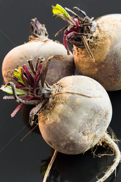 Tre farm fresche greggio barbabietole tutto Foto d'archivio © juniart
