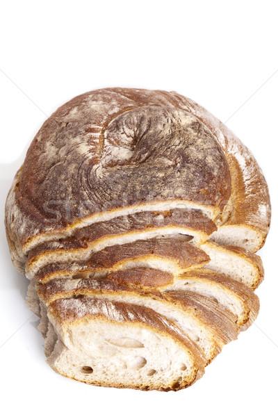 tasty fresh baked bread bun baguette natural food Stock photo © juniart
