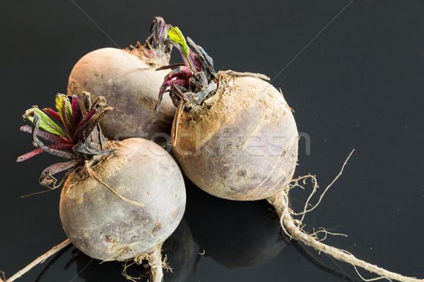 Three farm fresh raw beetroot Stock photo © juniart