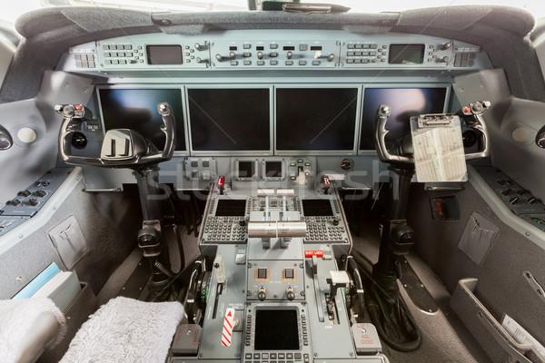 Binnenkant cockpit blauwe hemel wolken hemel Stockfoto © juniart