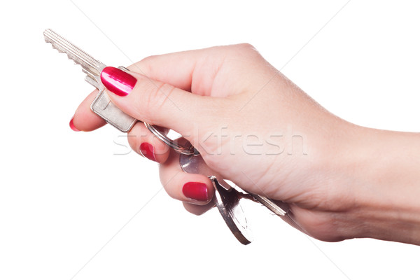 Close up of fingers curled around car keys Stock photo © juniart