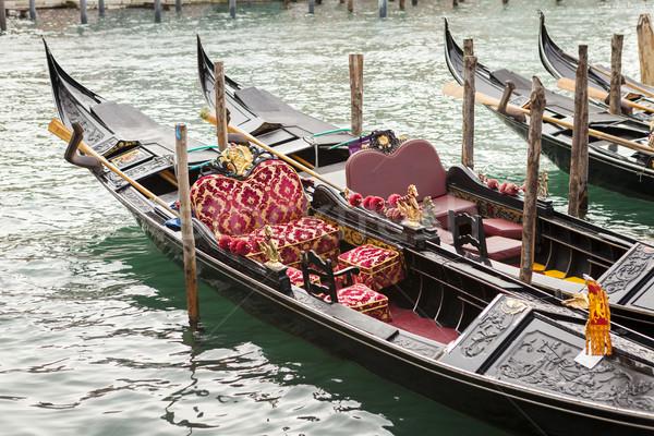 Gondel Venetië Italië water boot vakantie Stockfoto © juniart