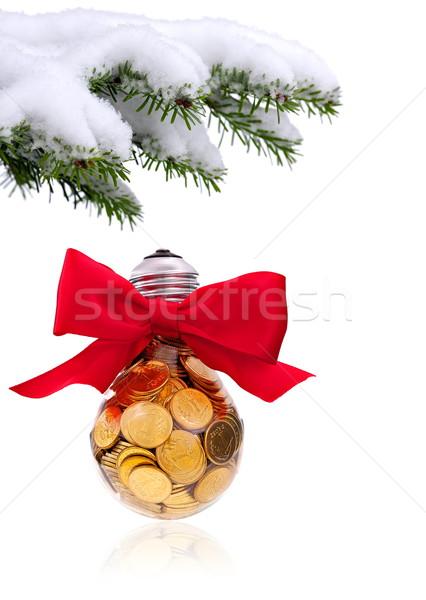 Stockfoto: Christmas · tijd · evergreen · sparren · boom · traditioneel