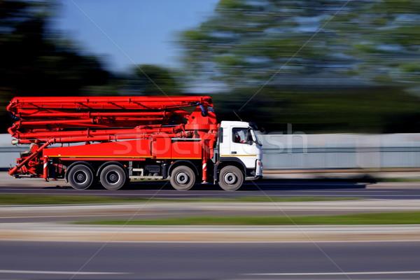 Camion construction de routes concrètes pomper machines façon Photo stock © kaczor58