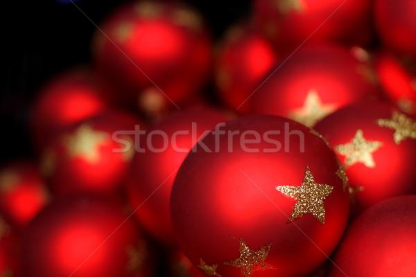 Flou rouge Noël verre Photo stock © kaczor58