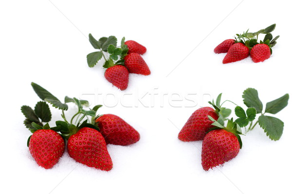 Fraîches fraises neige grandir up Valentin Photo stock © kaczor58