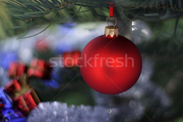 Noël temps evergreen épinette arbre verre Photo stock © kaczor58