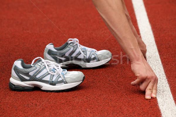 спортивных обувь теннисный корт оранжевый теннис красный Сток-фото © kaczor58