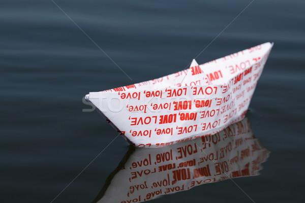 Vacances amour origami bateau rêves résumé Photo stock © kaczor58