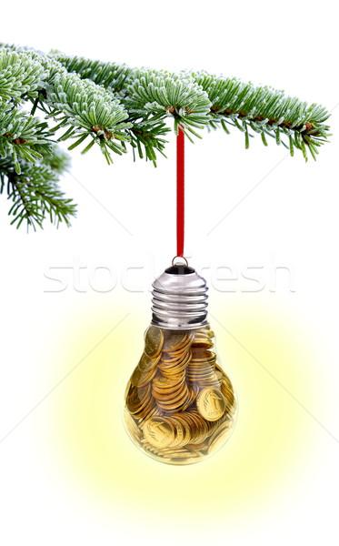 Christmas czasu wiecznie zielony wystroić drzewo tradycyjny Zdjęcia stock © kaczor58