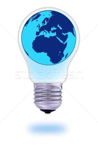 Verre ampoule monde monde milieu carte Photo stock © kaczor58