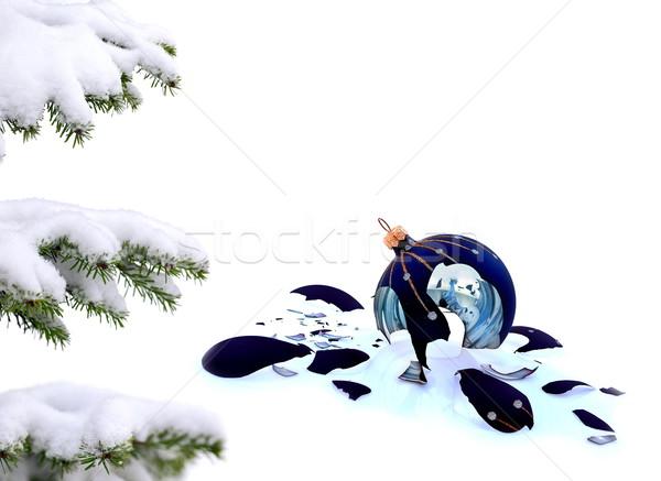 Weihnachtsbaum Glasscherben Spielerei weiß gescheitert Weihnachten Stock foto © kaczor58