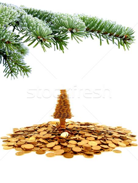 дерево счастье Рождества время белый Сток-фото © kaczor58